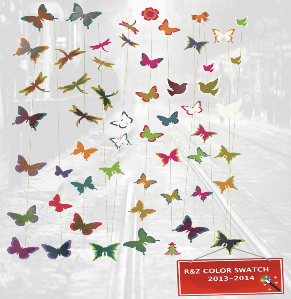 Ioldsheep 8 gorgeous colorful butterfly decorations r z co for Butterfly decorations for home